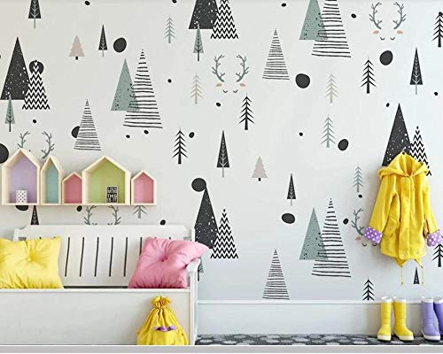 Abstract Geometric Children 3D Wallpaper,Living Room TV Wall Kids'Bedroom Wall Papers Home Decor Mural 300(L) x200(H) cm