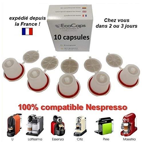 Nespresso–Nachfüllbare CAPSULAS RECARGABLES REUTILIZABLES Cafe emohome