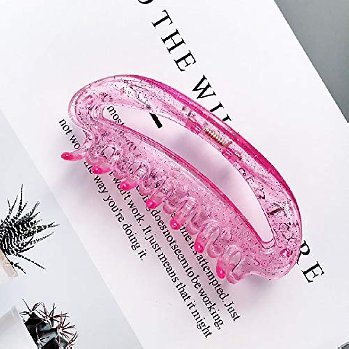 感染する人優雅HuaQingPiJu-JP 1Pc DIYマジックヘア女性の女の子ヘアピンヘアクリップディナーパーティーヘアスタイルツールアクセサリー(ピンク)