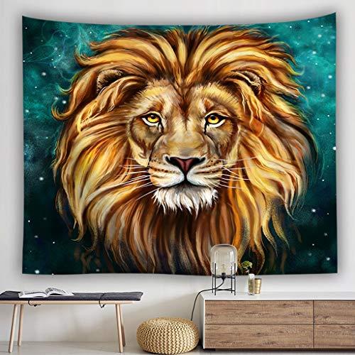 AINIYF Tapiz de Animales Salvajes León Africano Colgante de Pared África Animales del Bosque Tema 3D Imprimir Mandala Tapiz Tapiz de Pared Lanzar (Size : 78.7x59.1in)