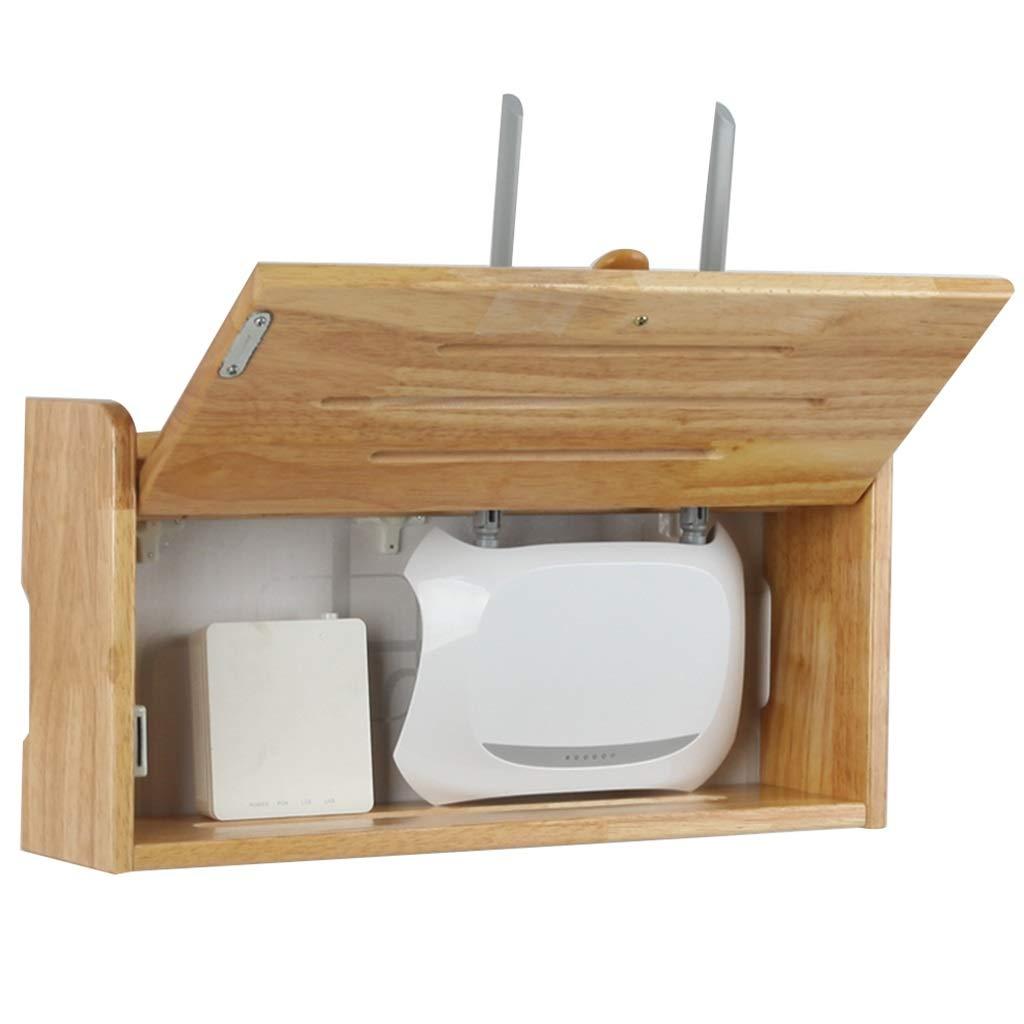 Dispositivos de Red Router Rack Router Inalámbrico Estante De Pared WiFi Caja De Almacenamiento De Madera Maciza De Socket De Bloqueo De Alambre Acabado De Cable TV Acabado Caja Accesorios: Amazon.es: Hogar