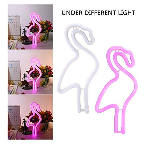 Twentyfeet - lampada led a neon a forma di fenicottero rosa. Lampada LED a batteria per bambini/adulti. Dimensioni 29x 15x 2cm