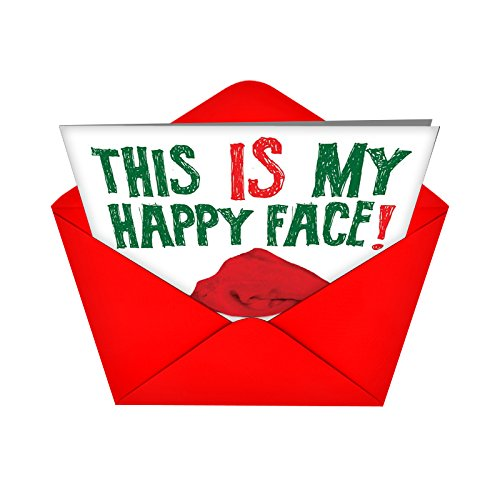 5940 Happy Face Naughty Humor Christmas Greeting Card with Envelope Photo #5