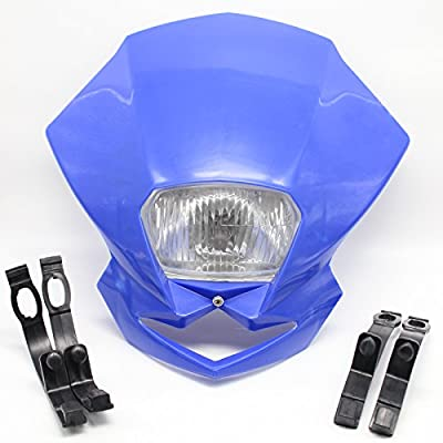 FXCNC Motorcycle Headlight LED 12V 35W H4 Fits All Dual Sport Motorcycles, Dirt Bikes; Street Fiighter, Naked Motorcycles