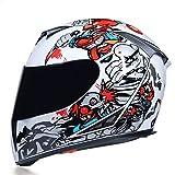 Casco moto integrale Fodera lavabile con doppio obiettivo Elegante casco da corsa a sgancio rapido Casco Casque Moto-a42-XL