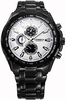 Curren Fashionable waterproof wrist Stainless steel watch for Men 8023