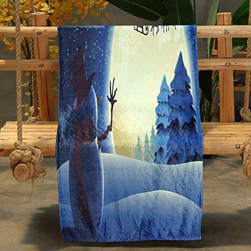 BHYDRY Weihnachts-Decke, Flanell, 70 x 100 cm