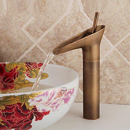 WasserhahnTap Wein Glas Waschbecken Wasserhahn Retro Alle Kupfer Fashion Hot und Kälte Vanity mit Doppeltem Verwendungszweck vor Zähler Becken Wasserhahn