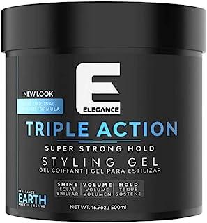 Elegance Triple Action Hair Gel Earth Strong Hold 8.45 Oz