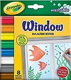 Crayola 58-8165 Washable Window Markers 8 Count