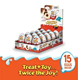 Kinder JOY Eggs, 15 Count Individually Wrapped Candy, 10.5 oz; PACKAGING MAY VARY