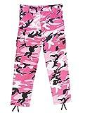Rothco Kids BDU Pants, Pink Camo, M