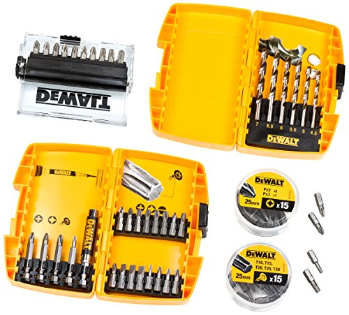 DeWalt DT71515-QZ Drilling and Screwdriving Set in 2-Robust Cases (67 Pieces)