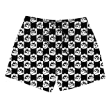 Jollibee-Black-and-White-Plaid- Boys Board Shorts Stretch Board Quick Dry Breathable Swimming Trunks Shorts with Pockets