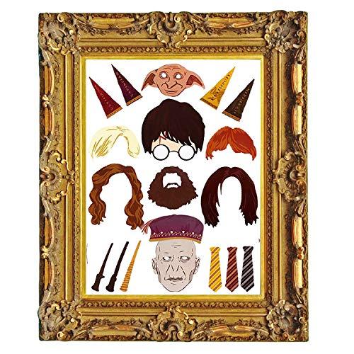 Witch's Magic House Photobooth Props (20 PCS), Harry Potter Partei liefert, Harry Potter Zauberstab Foto Requisiten, mit Stöcken und wiederverwendbar, Hochzeit, Baby Show, Geburtstag Party Dekoration