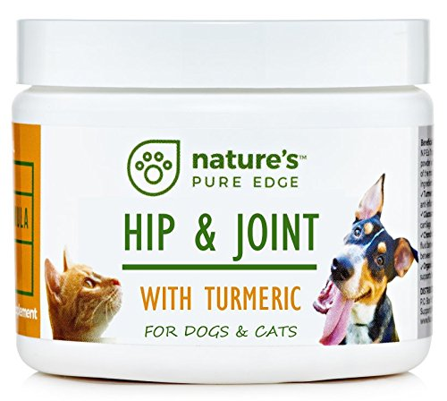 Powerful PET Hip & Joint - with Organic Turmeric - Natural Ingredients - Triple Strength - Chondroitin - Glucosamine - MSM - Organic Sea Coral Calcium