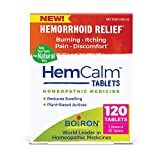 Boiron Hemcalm Tablets Homeopathic Medicine for Hemorrhoid Relief, Non-Drowsy, 120 Tablets, 120 Count