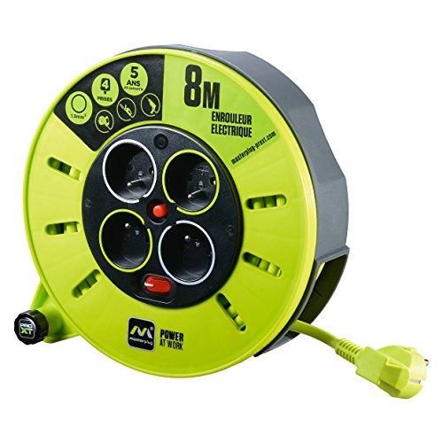 Masterplug CMF08104SL-PX kabelhaspel, 8 m (h05vv-f 3G1), 220 V, neongroen