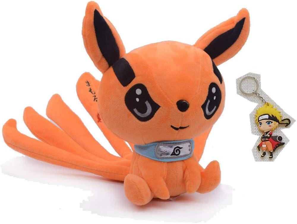 25cm, Orange 9.8in Anime Stuffed Animal Plush Toys Doll Cute Fox Stuffed Plush Gift for Baby Kids