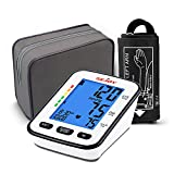 Automatic Blood Pressure Monitor, Upper Arm Large Adjustable Cuff, Backlit Display, English and Spanish Voice Broadcast, Accurate Irregular Heartbeat & Hypertension Detector, Digital BP Machine