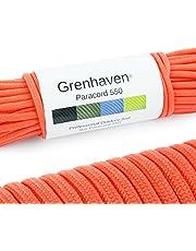 """Grenhaven paracord touw in verschillende kleuren Paracord koord parachutekoord universeel inzetbaar survivaltouw met 7 strengen 30m 550lbs 100ft van scheurbestendig """"parachutekoord"""" LET OP !!! Dit touw is niet geschikt om te klimmen."""