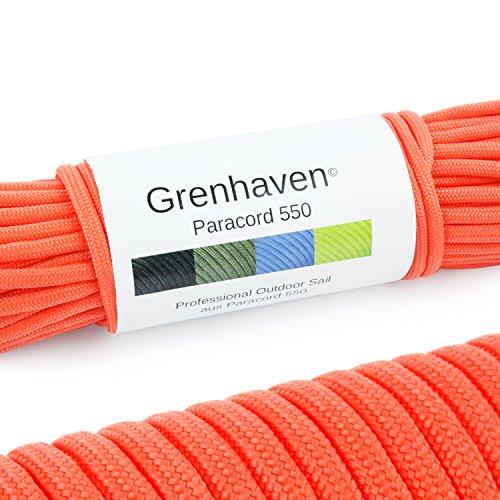 Grenhaven - 31 Metros m Soporta 250 Kilogramo kg 550 lbs Cuerda de Paracaídas - para Kit de Supervivencia - 7 Resistentes Hebras - Apta para Escalar - Parachute Cord - Paracord La Cuerda – Rojo