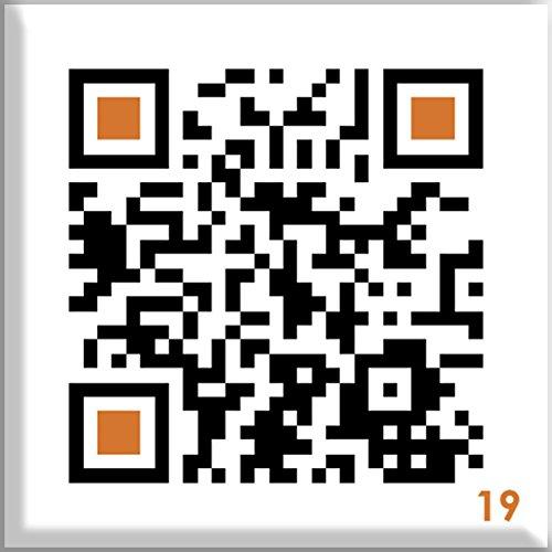 QR Code Button mit Anstecknadel - mit Smartphone einscannen und Überraschungsbotschaft erhalten: ZIMTZICKE / Stupid Cow
