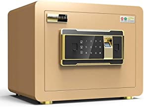 LLRYN Electronic Digital Security Safe Box, Cabinets Wall Safe Lock Box Cash Strongbox with Number Keys Emergency Lock (Co...