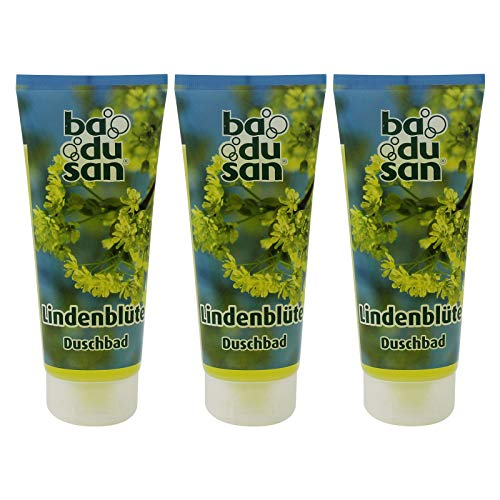 3er Pack Badusan Duschgel Duschbad Lindenblüte 3 x 200 ml Tube