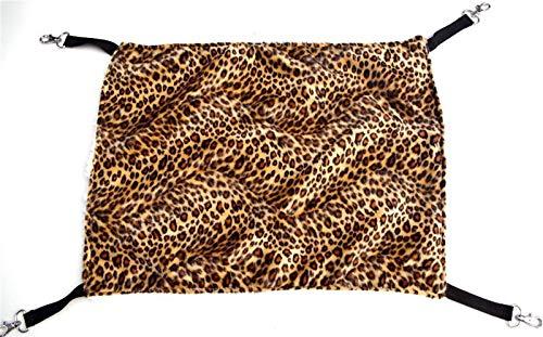 N\A Casa Gato, Mascota Gato Jaula Transpirable a Doble Cara Disponible cálido Gato Cama colchoneta Colgante Gato Hamaca Suministros Mascotas Gato Saco de Dormir (Color : Leopard Grain, Size : S)