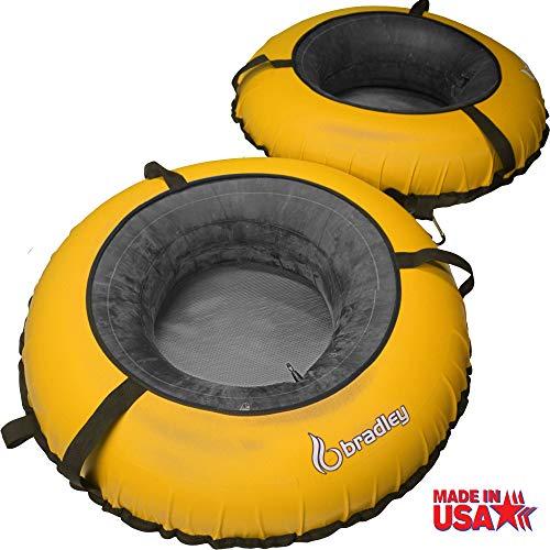 Bradley River Tubes 2 Pack | Heavy Duty Truck Tire Inner Tubes & Cover | 2 Person River Tube | Connecting River Run Tube