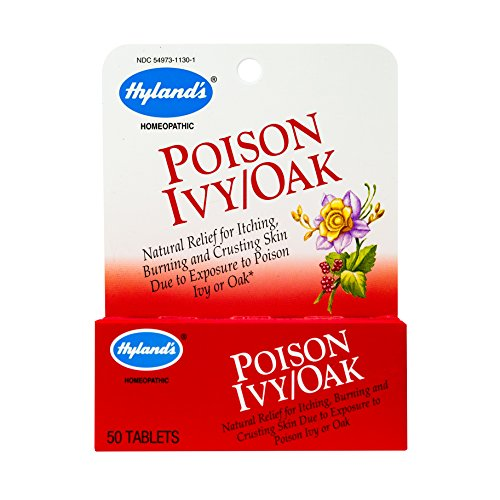 Poison Ivy & Poison Oak Treatment by Hyland's, Natural Relief for Itching, Blisters, and Burning Skin, 50 Tablets