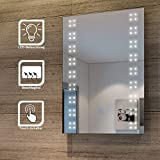 SONNI Spiegel mit Beleuchtung Energiesparend LED Licht Badezimmer Wandspiegel Beschlagfrei...