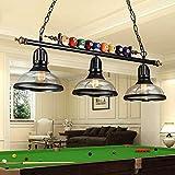 DXQWAN LED Billiard Light Chandelier Pool Table American Pendant Country Style loft Retro Creative Billiard lamp Wrought Iron Lamps