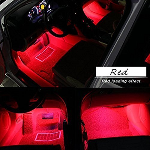 Car LED Strip Light, EJ's SUPER CAR 4pcs 36 LED Multi-color Car Interior Lights Under Dash Lighting Waterproof Kit with Multi-Mode Change and Wireless Remote Control…
