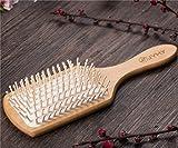 JYHY Cheveux Vent Brosse de massage en bois naturel, Beauté Spa Massager Massage Peigne, Big Taille Cheveux Démêlant Peigne Brosse, pour tous les types de cheveux améliorer la pousse des cheveux