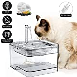 Petnf - Fuente de agua para gatos, 3 l, automática, transparente, con 2 filtros...