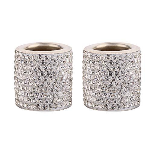 Winbang 2pcs cristallo Seggiolino Auto poggiatesta collare Decor Charms Diamante Bling accessori interni auto per le donne Strass Universale