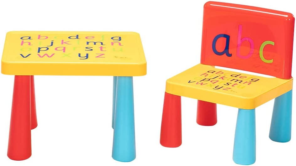 25% OFF Volowoo Ranking TOP1 Kids Alphabet Table Chair and Set Girls for