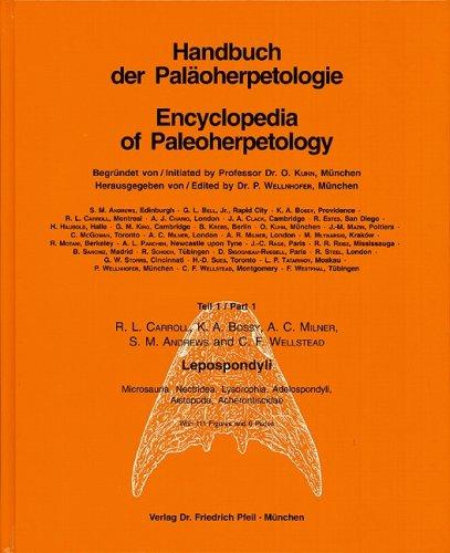 Handbook of Paleoherpetology / Lepospondyli: Microsauria, Nectridea, Lysorophia, Adelospondyli, Aistopoda, Acherontiscidae