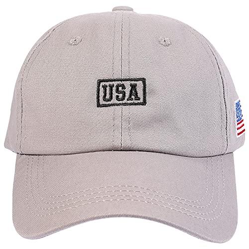 ABOOFAN Gorra de Béisbol Ajustable Bandera Americana Gorra Bordada para El Día de La Independencia