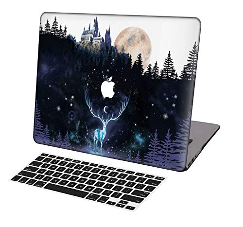 KSK KAISHEK Laptop Case for 2016-2019 Release Newest MacBook Pro 15 inch with Touch Bar Model:A1707/A1990,Plastic Ultra Slim Light Hard Shell Keyboard Cover,Harry Potter Hogwarts