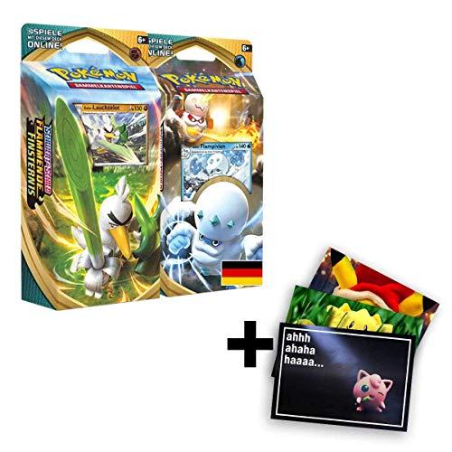 Lively Moments Pokemon Karten 2 Themendecks SWSH - Flammende Finsternis Lauchzelot und Flampivian DE + Exklusive GRATIS Grußkarte