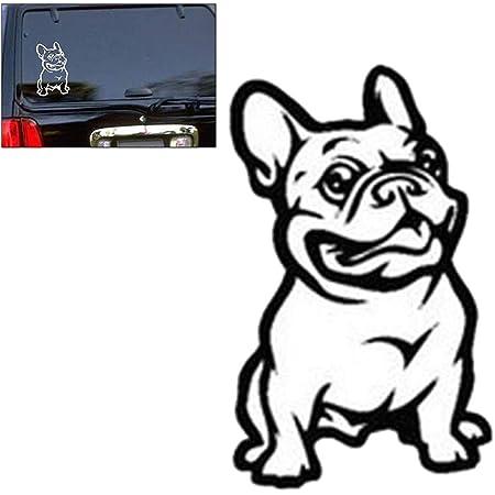 Lioobo Starker Klebstoff 3d Aufkleber Vinyl Auto Aufkleber Französische Bulldogge Hund Auto Aufkleber Schwarz Sport Freizeit