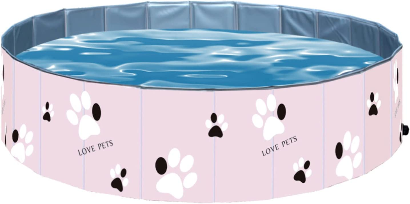 YHLO Piscina de baño de Mascotas Plegable, Piscina Plegable para Perros Piscina al Aire Libre, bañera de hidromasaje, Piscina para niños PVC portátil, Perros pequeños y g 60x20cm