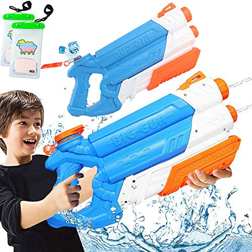Water Guns Water Blaster Squirt Guns Soaker for Kids Adult,(2 Pack 2000CC) Large Capacityfor Summer Water Fighting Toy Outdoor Pool Beach Yard Adults Swimming Party Water Shooter Fighting Games