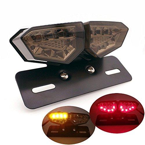 Heinmo Moto LED Feu arrière de frein clignotants Feu arrière de frein clignotants lumière LED intégrée