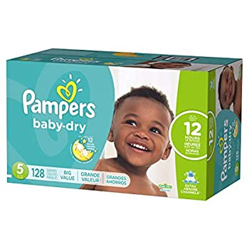 Pampers Baby-Dry Disposable Diapers Size 5 128 Count ECONOMY
