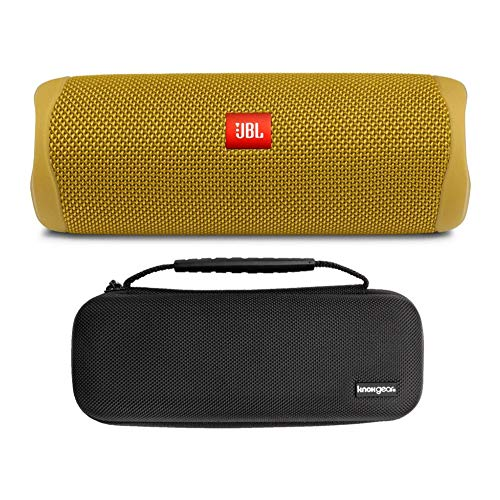 JBL Flip 5 Portable Waterproof Bluetooth Speaker (Mustard Yellow) with Knox Gear Hardshell Travel and Protective Case Bundle (2 Items)