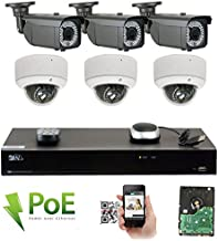 GW 8 Channel 4K NVR 5MP Video Security Camera System - 3 x Bullet & 3 x Dome 5MP 1920P Weatherproof 2.8-12mm Varifocal Cameras, Realtime Recording 1080p @ 30fps, Pre-Installed 2TB HDD